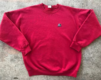 Vintage Red Starter Crewneck Sweater