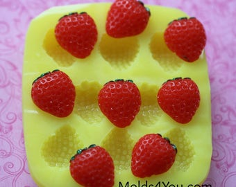 Silicone Strawberry Mold Fruit Berry Mold Resin Mold Fondant Sugar Wax Soap Baking Polymer Clay Mold