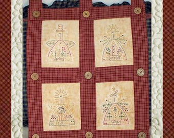 Season Of Angels Mini Collection-Primitive Stitchery  E-PATTERN by Primitive Stitches-Instant Download