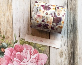 Washi Tape - Wild Flower, Washi, Washi Tape, Flower, Flower Washi Tape, Flower Stationery, Decorative Tape, Planner Tape