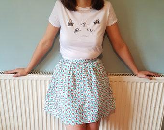 Pleated Mini skirt, Mini skirt, Pleated skirt, Boho skirt, Gift for her, Hippie skirt, Festival clothing, Birthday gift, Gift for women
