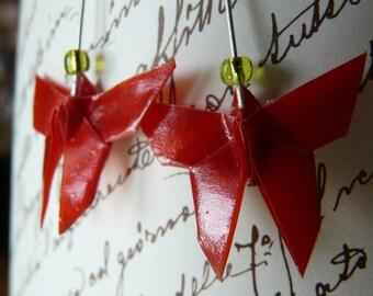 Origami butterflies earrings