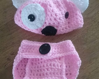 Baby Girl Puppy Diaper Set