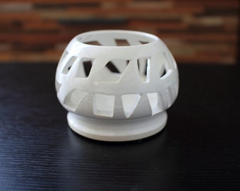 Ceramic candle holder luminary
