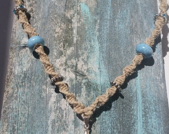 "21"" Natural Hemp Necklace"