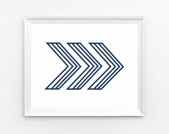 Arrow, Navy Blue, Printable, Chevron, Arrow Decor, Print, Chevron wall art Prints, Arrow Print, Art Print, Arrow Poster, Wall Art, Arrow Art