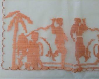 Vintage Handkerchief / Silk Organza