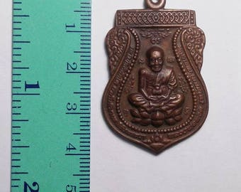 LP TUAD BE2552 Thailand Amulet Monk Pendant coin Southeast Asia collectible