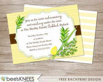 Sukkot Invitation DIY Printable Jewish Sukkah celebration