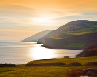 Ireland Photography, Irish Coast, Irish Coastal Print, Coast of Ireland, Irish Sunset, Ireland, Irish photo, Emerald Isle Photo, Irish Hills