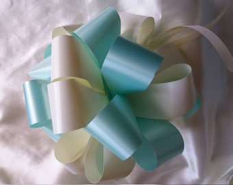 12 x standard Pew End Bows in 2 colour mix handmade