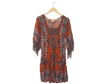 Bohemian Fringe Dress