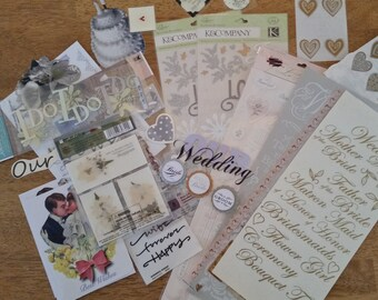Large Lot of Wedding Scrapbook Embellishments (#5)