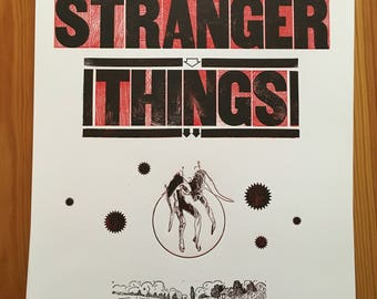 Stranger Things letterpressed poster