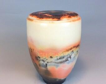 Raku ceramic Urn - Urn For Ashes - Art Unique Urn - Ceramic Urn