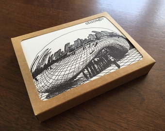 Chicago City Series Letterpress Note Cards Set