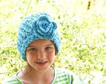 Blue Beanie, Womens Blue Hat, Blue Crochet Hat, Womens Blue Cloche, Autumn Fashion, Winter Fashion, Womens Crochet Hat, Fall Fashion