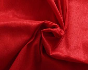 Silk Fabric, Dupioni Silk Fabric, Blend Silk Fabric, Art Silk Fabric, Red Dupioni Fabric