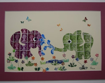 Recycled Stamp Art - Elestamps - Super Soaker