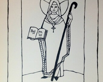 Saint Bridget of Ireland print