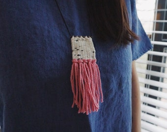 Mini Micro Weaving Woven Fiber Necklace
