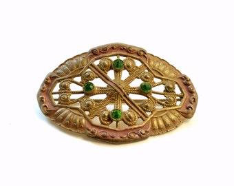 Vintage Victorian Brooch, Sash Brooch, C Clasp Back