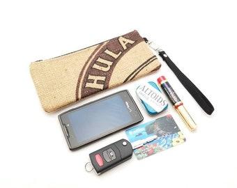 Burlap Wristlet Phone Bag - iPhone6 - Samsung