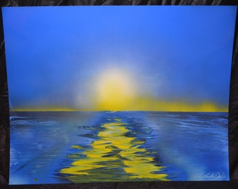 Spray Paint Art 22x28 - Sunrise
