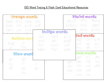 100 Word Flash  & Tracing Cards