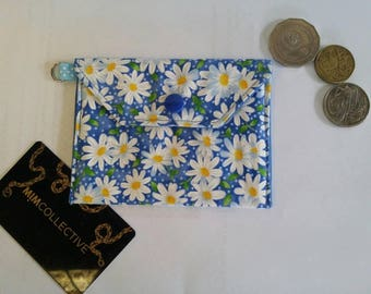 Credit Card Wallet / Card Wallet / Wallet / Daisy / Pouch / Keyring / Key Ring / Wallet /  Key Chain / Purse / Key Chain Wallet