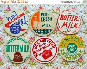 ONSALE Vintage Milk Caps Cream of the Crop Farmhouse N0 25