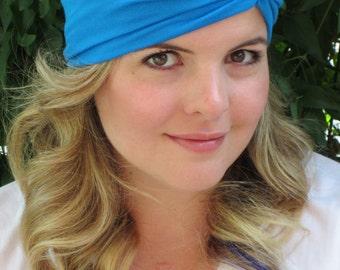 Turquoise Headband, Jersey Turband Headband, Soft Stretch Turband, Yoga Headband, Twist Headband, Workout Headband, Cute Headband