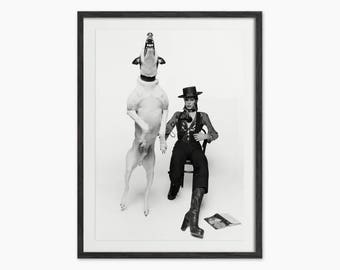 David Bowie Diamond Dogs Image - David Bowie Art Print - Bowie and Dog Photo - Music Wall Art - David Bowie