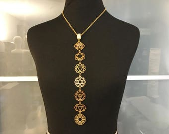 Chakras Necklace:  gold or silver
