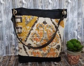 Wax Canvas Hobo Bag