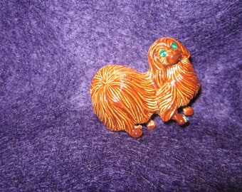 Vintage Enamel Dog Pin