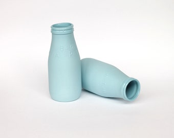 porcelain replica vintage milk bottle mini - (ocean colour)