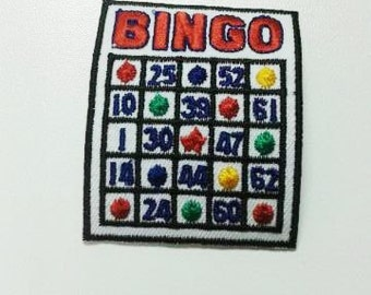 Bingo Iron On Patch