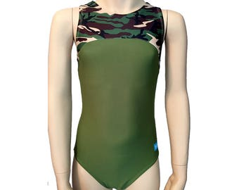 Girls Gymnastics Leotard Camouflage Racerback Leotard Best Seller Dance Leotard Sizes Toddler - Adult