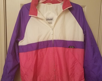 Cabin Creek Winbreaker- White, Pink and Purple