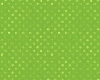 Wilmington Prints - Essentials - Dotsy - Lime Green