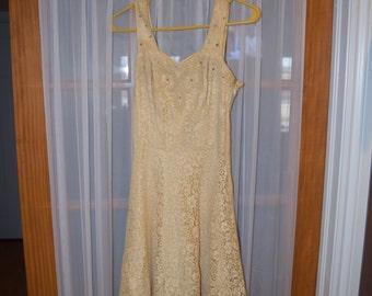 Vintage Prima New York Cream Lace Dress