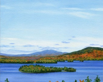 Art Print - Rangeley Lake in October #2,  12 x 12 size