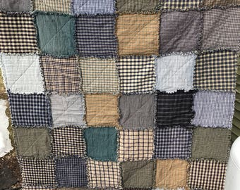 Homespun Rag Quilt