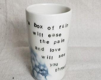 Grateful Dead; Boîte de coupe pluie / / verrerie / / gobelet / / céramique coupe / / bubble art / / anniversaire