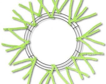 "15""-25"" Fresh green Form, Wreath Form, wreath Forms, green wreath Frame, lime green wreath frame, lime wreath Forms, Wreath Supplies"