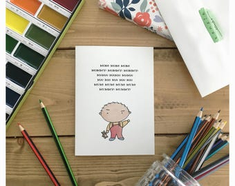 Family Guy Card // mothers day card, card for mom, funny mothers day card, birthday card, funny card for mom, family guy, funny mom card