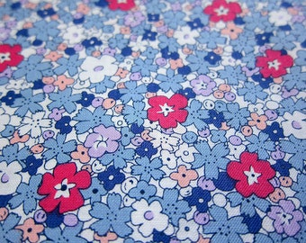 Japanese Floral Fabric - Morning Glory on Blue - Fat Quarter