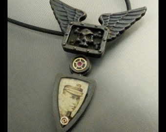 Bronze steampunk pendant