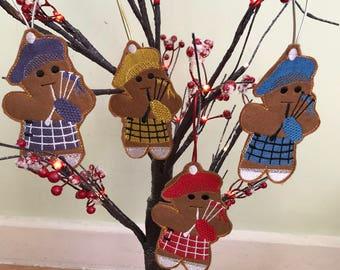 Scottish Gingerbread Man Ornamet/Christmas or Hogmanay Gift